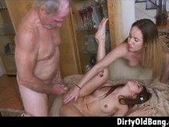 Wild dads and horny girls have some nice time