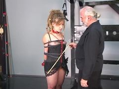 Teen, Basement, Master, Maledom, Old, Bdsm, Tits, Lingerie, Hippy