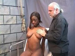 Stretching, Brunette, Pussy stretching, Teen, Interracial, Black teen, Pussy, Young, Tits, Ebony, Black, Speculum, Bdsm