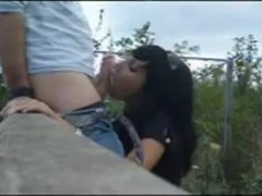 Reality, Handjob, Public, Amateurs, Outdoor, Nature, Cock, Brunette, Sucking