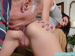 Hairless, Wanking, Old, Old and young, Young, Fucking, Facial, Dad and girl, Shaved, Schoolgirl, Grandfather