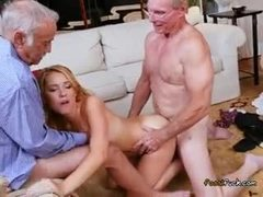 Old men have some wild action with the chicks