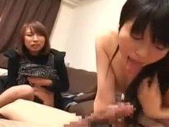 Teen, Cute, Group, Lady, 3 some, Japanese, Amateurs, Beautiful, Watching, Asian, Blowjob