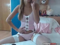 Teen, Striptease, Boobs, Big tits, Stockings, Webcam, Blonde, Lingerie, Bunny, Amateurs, Tits, Clothes ripped, Undressing
